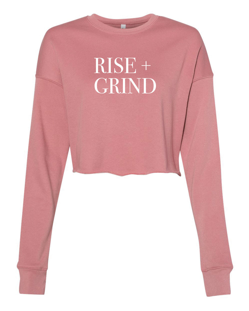 Rise + Grind Crop Pullover