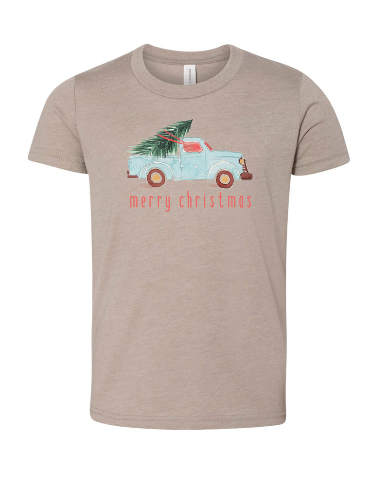 Watercolor Christmas Truck | Tee | Kids | RTS