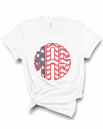 Flag Monogram Tee | Adult