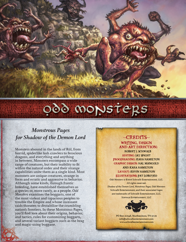 Odd Monsters (Monstrous Pages)