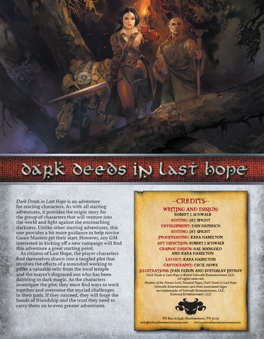 Dark Deeds in Last Hope (Starting)