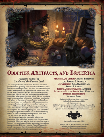 Oddities, Artifacts, and Esoterica
