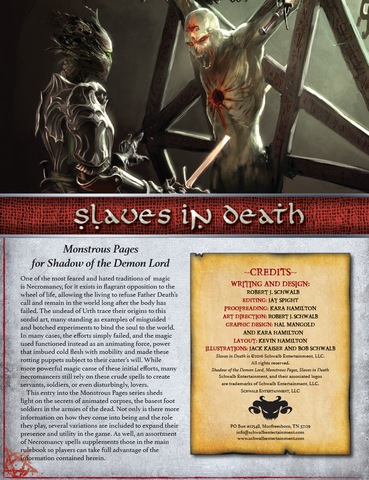 Slaves in Death (Monstrous Pages)