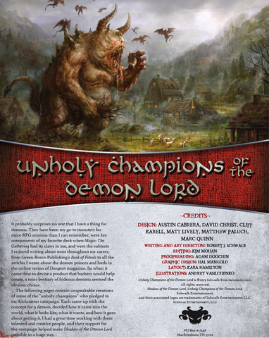 Unholy Champions of the Demon Lord