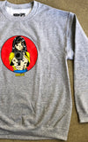 Barrel of a Gun Crew Sweatshirt - GREY
