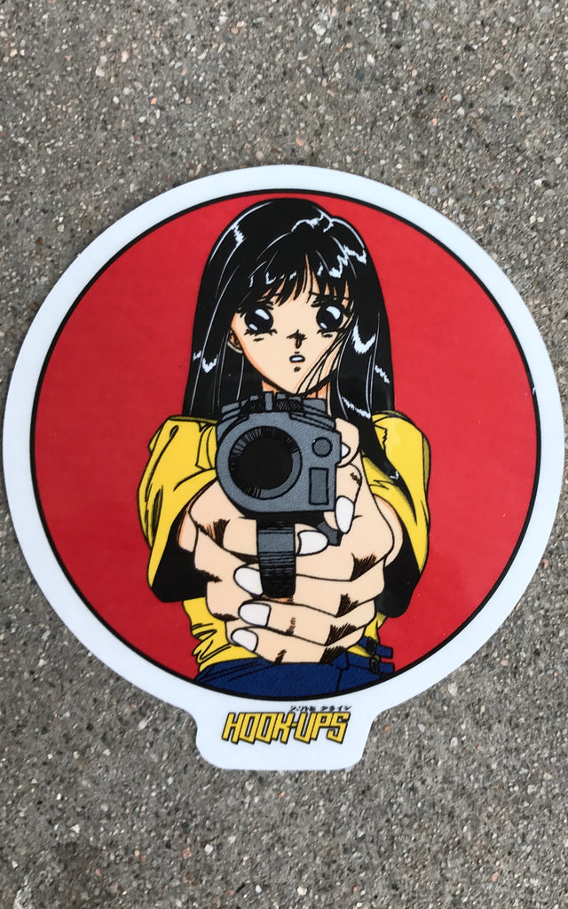 barrel of a gun 4 inch sticker