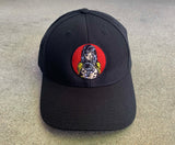 Barrel of a Gun Snapback Hat- BLACK