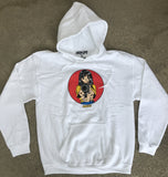 Barrel of a Gun Hooded Sweatshirt - WHITE