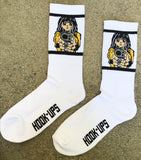 Barrel of a Gun Socks - WHITE