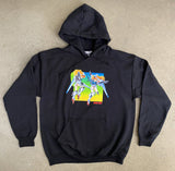 Mobile Suits Hooded Sweatshirt- BLACK