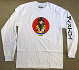 deluxe barrel of a gun LONG SLEEVE t-shirt WHITE