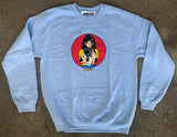 Barrel of a Gun Crew Sweatshirt POWDER BLUE