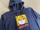 Red Eyes Hooded Sweatshirt- NAVY BLUE