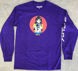 deluxe barrel of a gun LONG SLEEVE t-shirt PURPLE