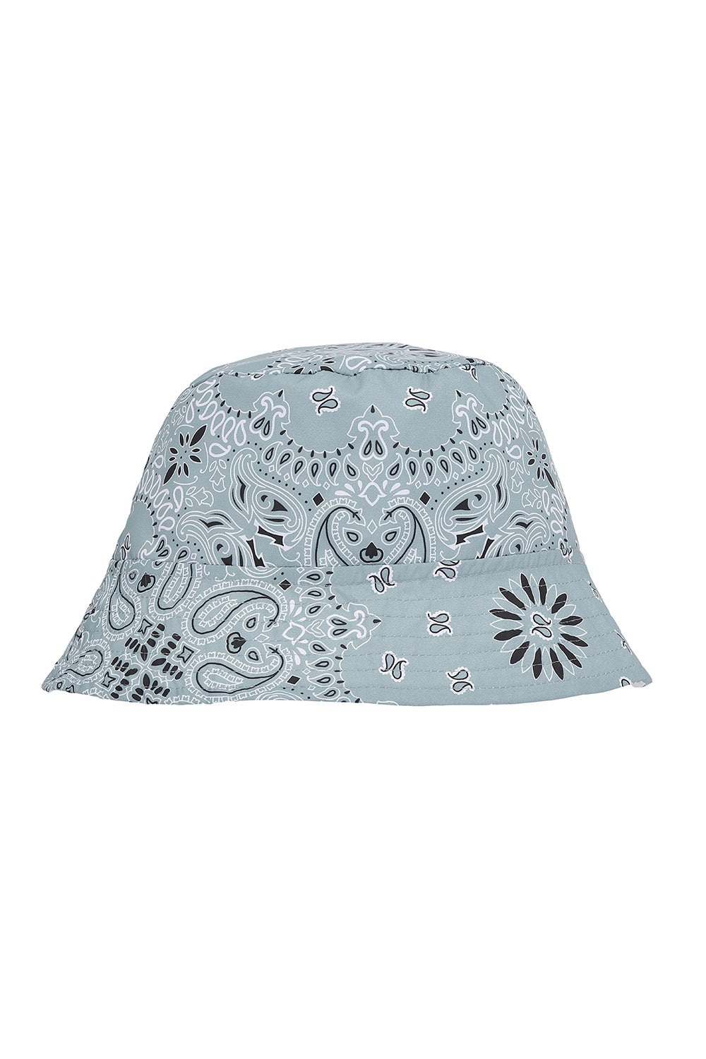 Light Grey Bandana Bucket Hat