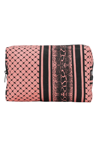 Coral Partisan / Snake Toilet Bag