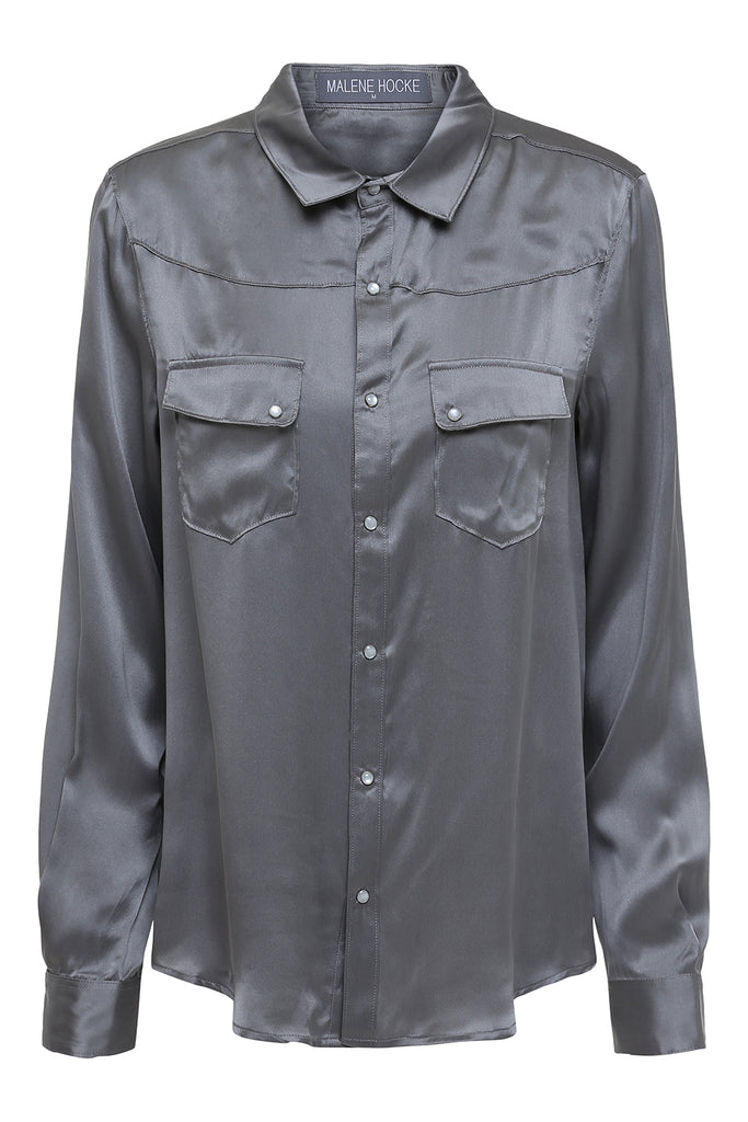 Sizet Silk Shirt Grey