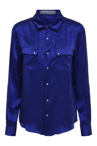 Sizet Silk Shirt Blue