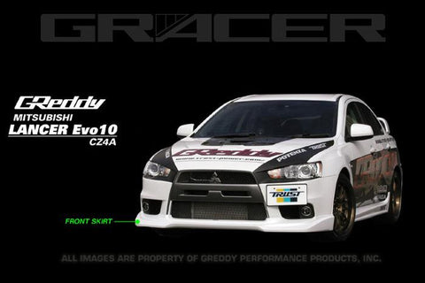 GReddy 08+ Mitsubishi Evolution X Urethane Front Lip Spoiler **Must Ask/Call to Order** - Panda Motorworks - 1