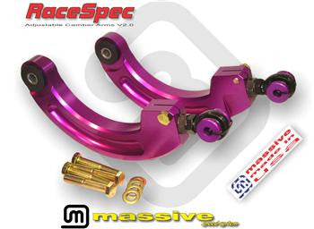 Massive RaceSpec Adjustable Camber Arms - Panda Motorworks - 1