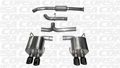 "Corsa 2015 Subaru WRX Cat Back Exhaust, Black Quad 3.5"" Tips *Sport* - Panda Motorworks"