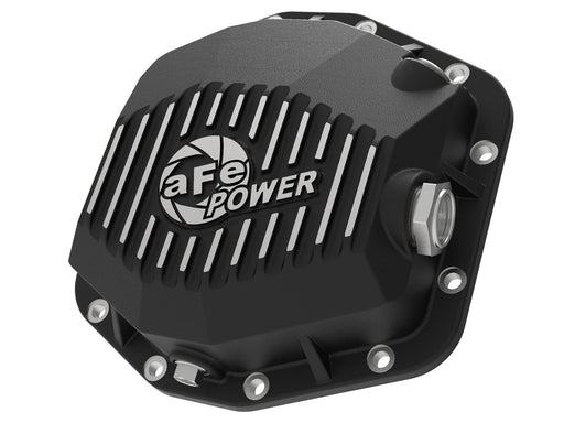 Pro Series Rear Differential Cover Black w/Machined Fins