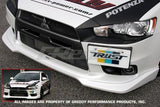GReddy 08+ Mitsubishi Evolution X Urethane Front Lip Spoiler **Must Ask/Call to Order** - Panda Motorworks - 2