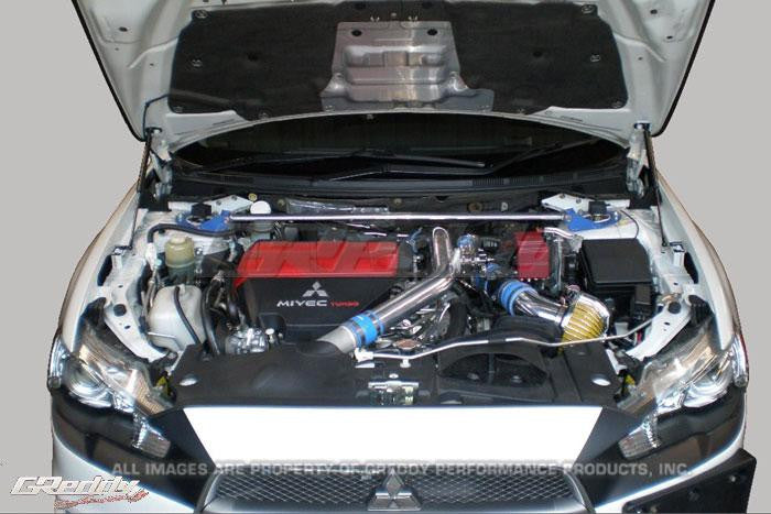 GReddy 08-11 Mitsubishi Evo X CZ4A Engine Hood Lifter Kit (Designed for OEM weight hoods.) - Panda Motorworks - 1