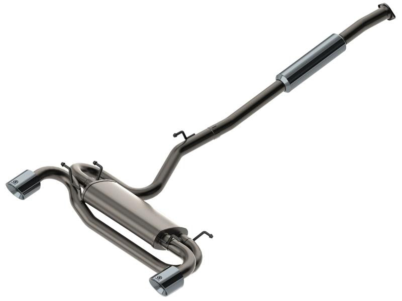 aFe Takeda Exhaust 304SS Dual Cat-Back w/ Polished Tips 08-13 Mitsubishi Lancer Evo X L4 2.0L Turbo - Panda Motorworks