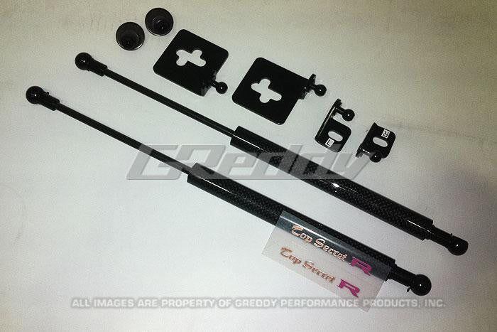 GReddy 08-11 Mitsubishi Evo X CZ4A Engine Hood Lifter Kit (Designed for OEM weight hoods.) - Panda Motorworks - 3