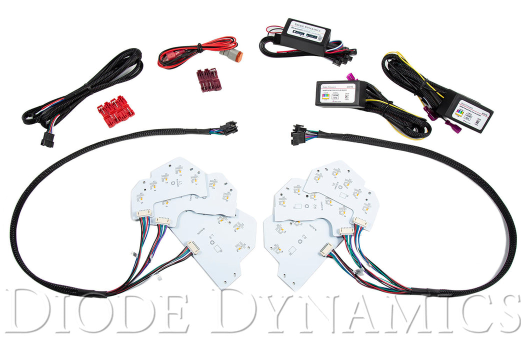 2018 Ford Mustang RGBWA DRL LED Boards UDSM Diode Dynamics