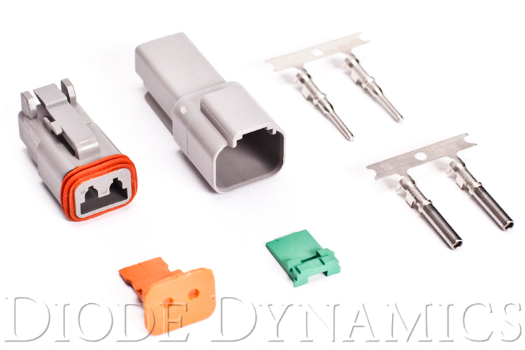 Deutsch Connector Kit 2-Pin 16-22 Gauge Diode Dynamics