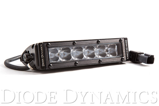 6 Inch LED Light Bar Single Row Straight SS6 White Driving Light Bar Single Diode Dynamics