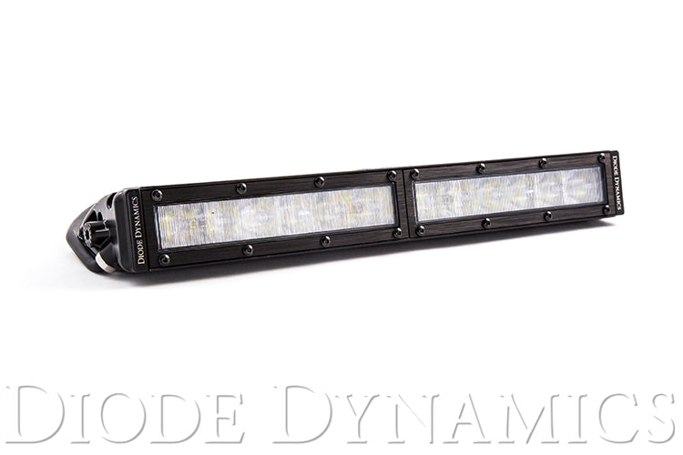 12 Inch LED Light Bar  Single Row Straight Clear Wide Each Stage Series Diode Dynamics