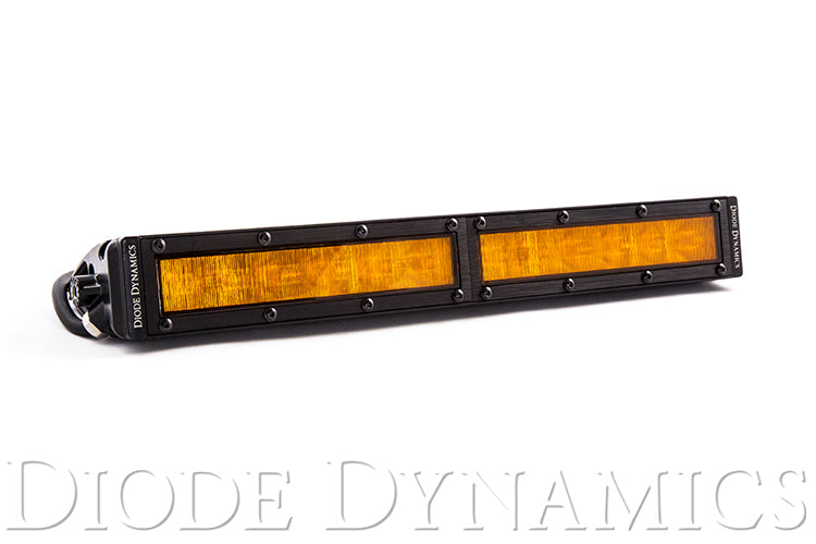 12 Inch LED Light Bar  Single Row Straight Amber Wide Each Stage Series Diode Dynamics