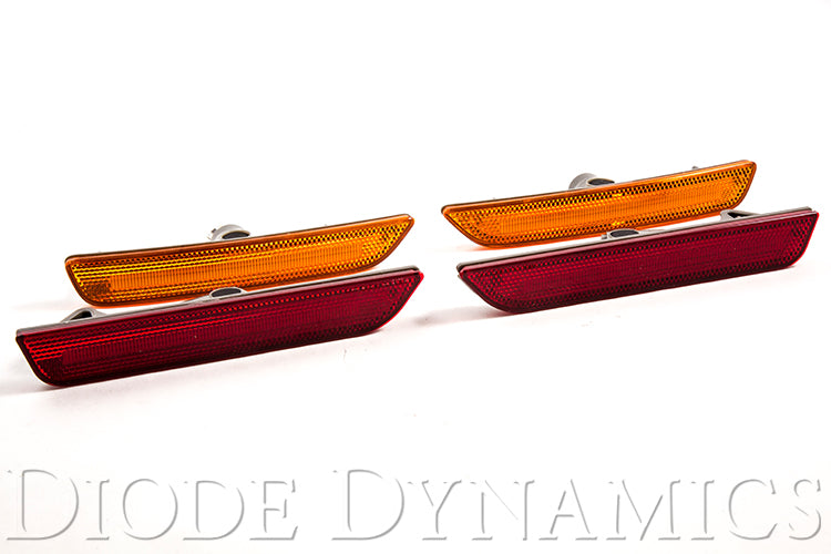 Mustang 2010 LED Sidemarkers Amber/Red Set Diode Dynamics