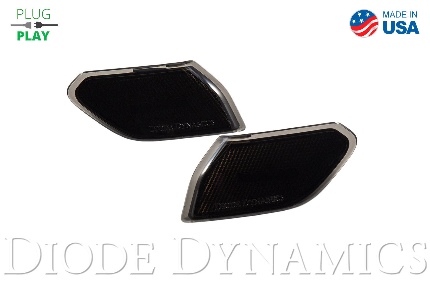 Jeep JL Sidemarkers Smoked Set Diode Dynamics