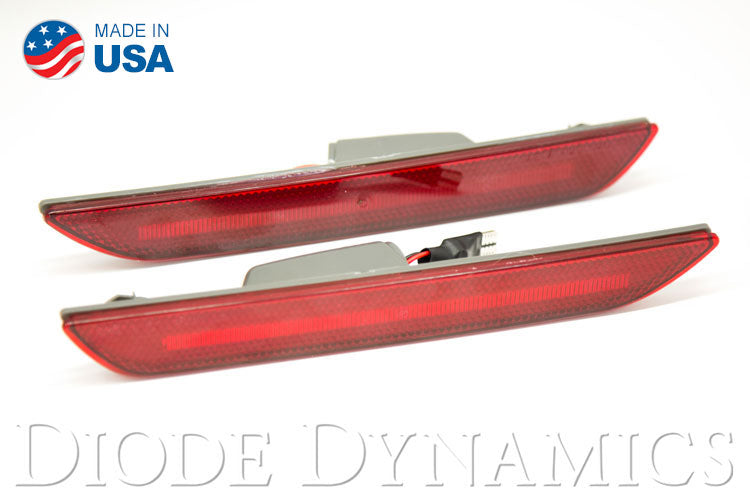 Mustang 2015 EU LED Sidemarkers Red Set Diode Dynamics