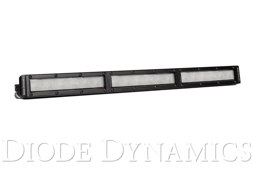 18 Inch LED Light Bar  Single Row Straight Clear Flood Each Stage Series Diode Dynamics