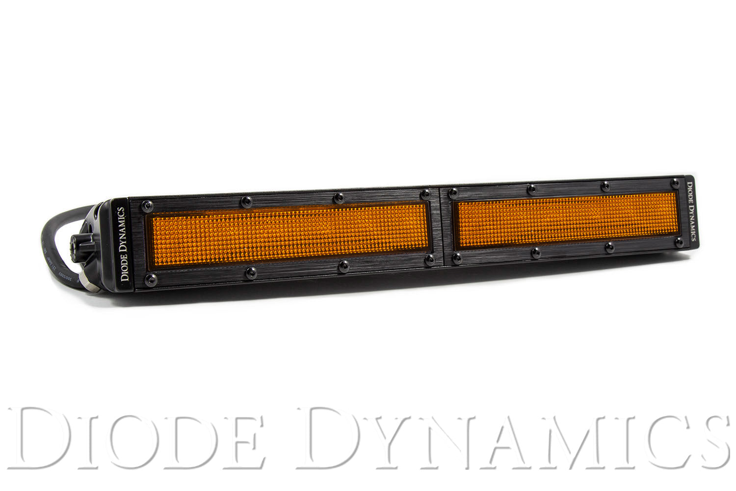 12 Inch LED Light Bar  Single Row Straight Amber Flood Each Stage Series Diode Dynamics