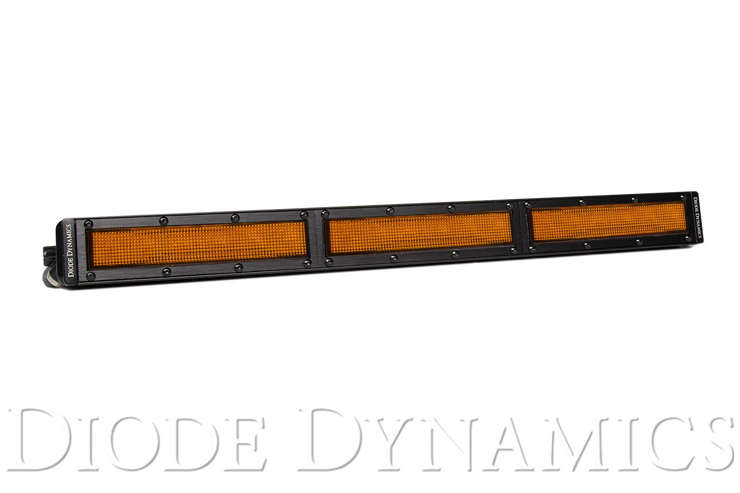 18 Inch LED Light Bar  Single Row Straight Amber Flood Each Stage Series Diode Dynamics