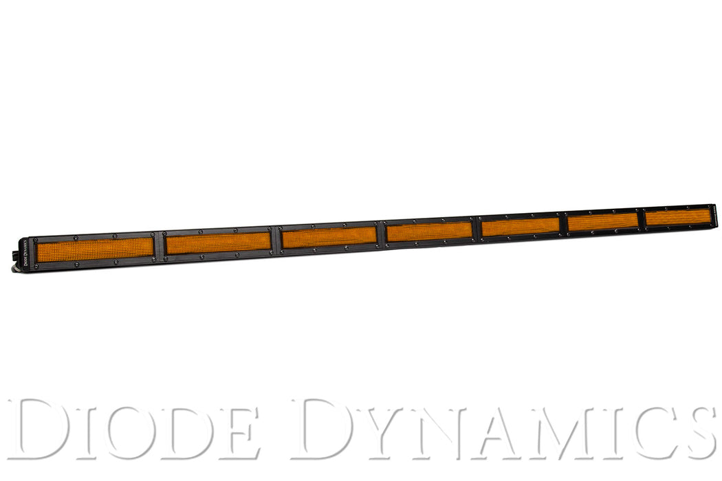 42 Inch LED Light Bar  Single Row Straight Amber Flood Each Stage Series Diode Dynamics