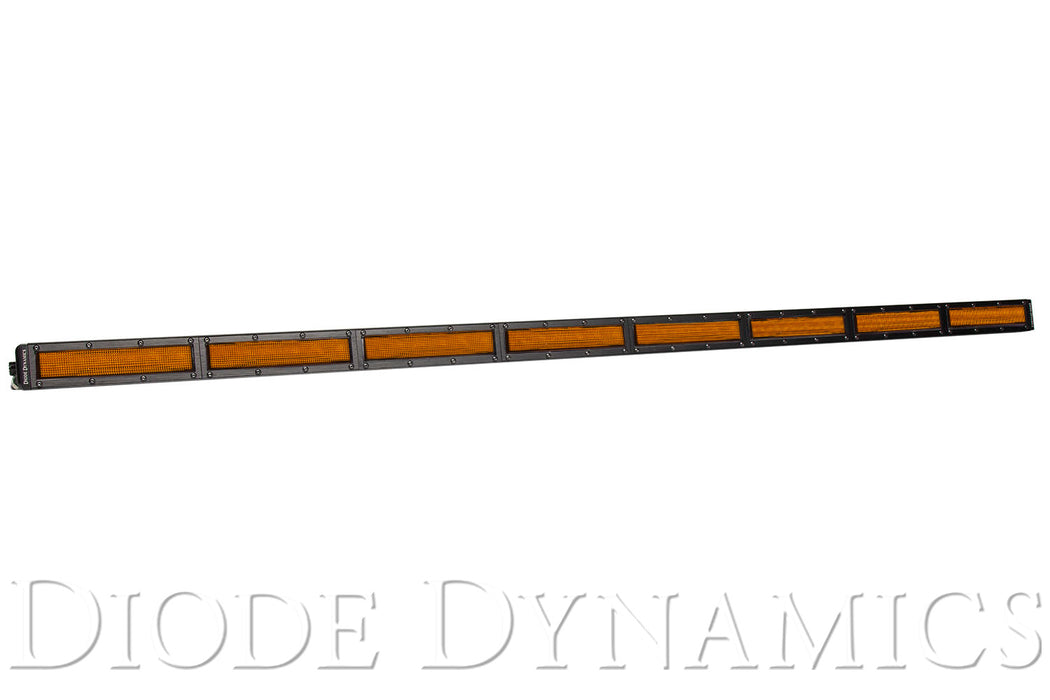 50 Inch LED Light Bar  Single Row Straight Amber Flood Each Stage Series Diode Dynamics