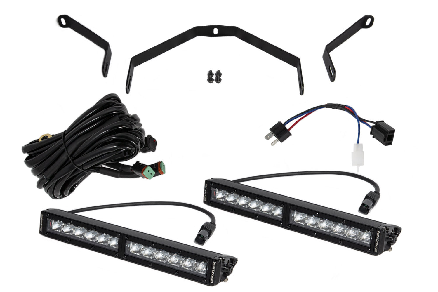 Tundra 12 Inch LED Driving Light Kit White Driving Diode Dynamics