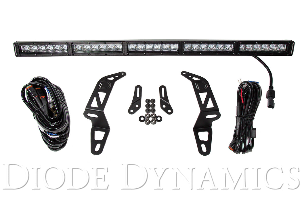 Jeep 2018 SS30 Bumper LED Kit White Driving Single Diode Dynamics