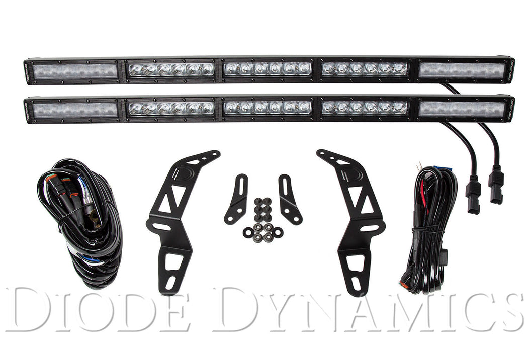 Jeep 2018 SS30 Bumper LED Kit White Combo Dual Diode Dynamics