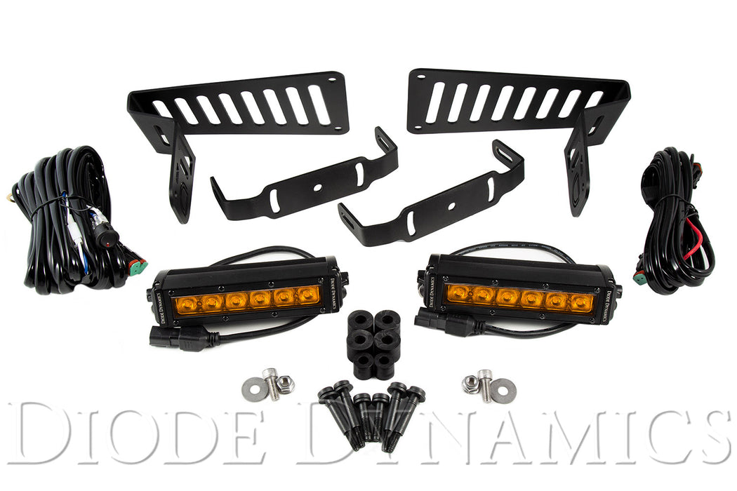 Jeep JL 2018-2019 Stage Series 6 Inch Cowl LED Kit Amber Driving Diode Dynamics