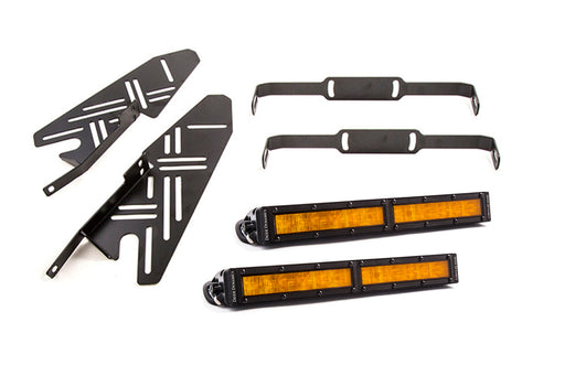 2017-2019 Ford Raptor SS Fog Kit 12.0 Inch Amber Wide Diode Dynamics