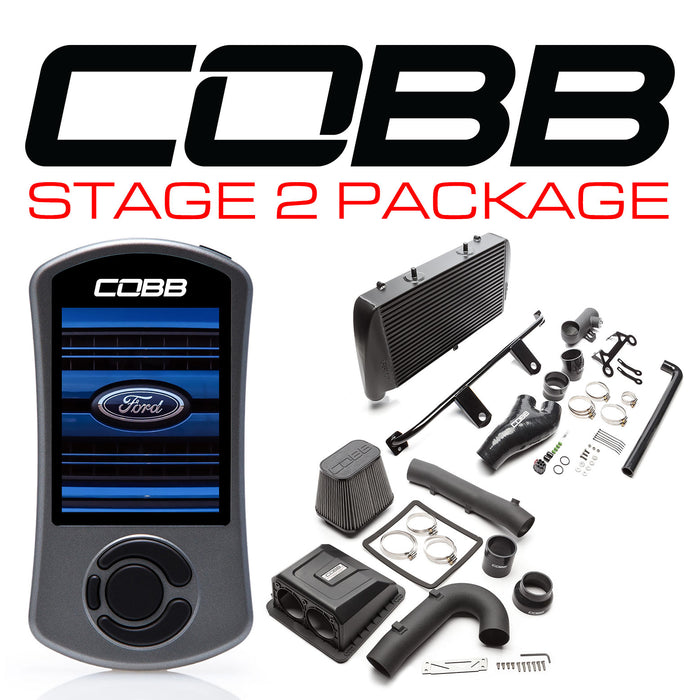 COBB STAGE 2 POWER PACKAGE BLACK WITH TCM F-150 RAPTOR 2017-2019