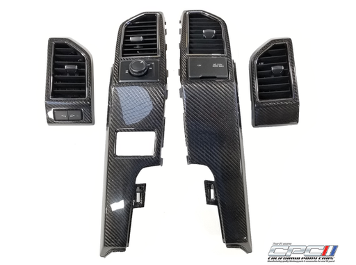 2015-2019 F-SERIES TRUCK CARBON FIBER 4PC DASH AIR VENT BEZEL REPLACEMENTS
